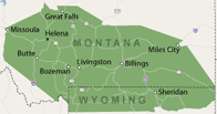 Our Montana and Wyoming Service Area